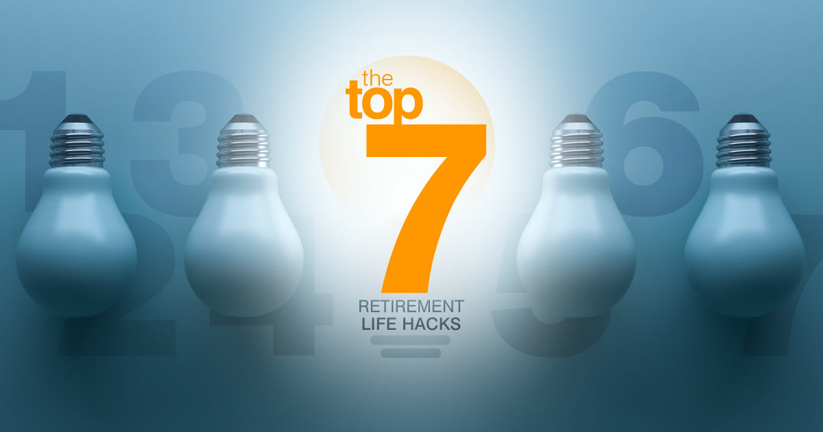 Saving for your future should be a priority. Here are our top 7 retirement life hacks that may help make saving for retirement more doable.