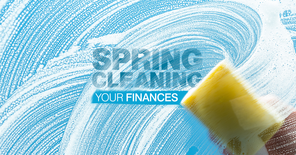 "Set a course for a secure future by ""spring cleaning"" your financial habits. Here are six tips from VP Michael Schoonmaker."