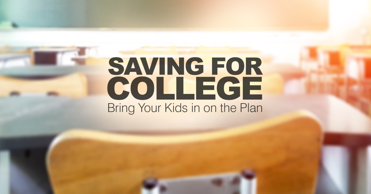 Saving for college can be a challenge, but engaging your children gives them an important role in the process. We show you how.